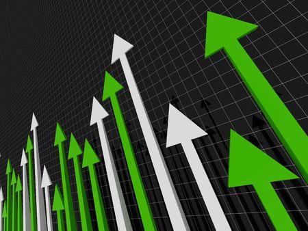 attainment: financial stat Stock Photo