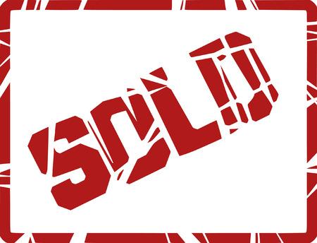 rejecting: sold stamp Illustration