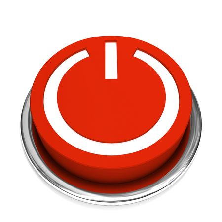 isolated power button Stock Photo - 2997510