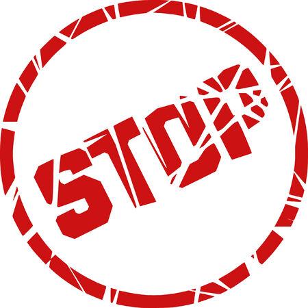 stop vector stamp