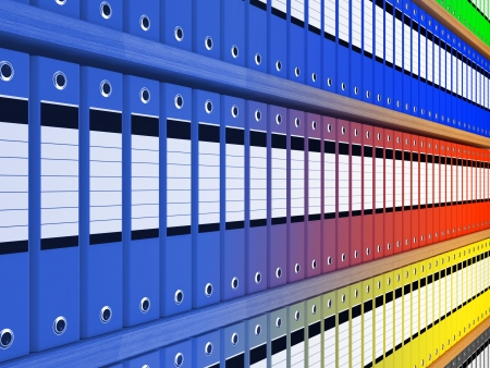 disorganization: folder background Stock Photo
