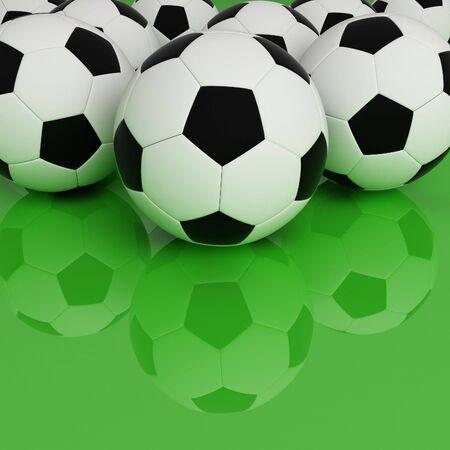 soccer ball background Stock Photo - 3081788