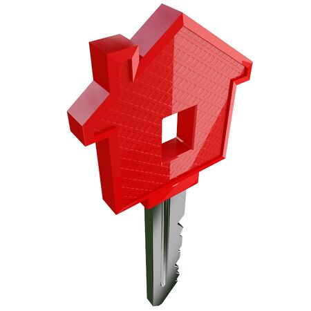 isolated house key Stock Photo - 3103105