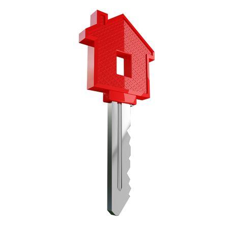 isolated house key photo