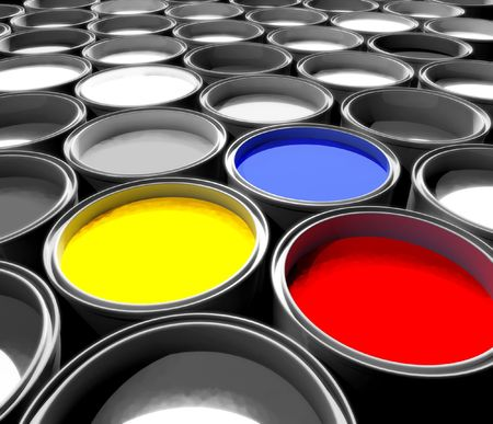 color paint tank, abstract background photo