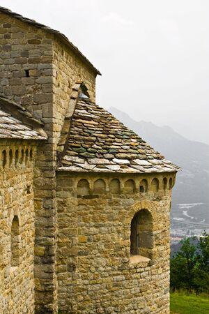 detail of romanic ancient church photo