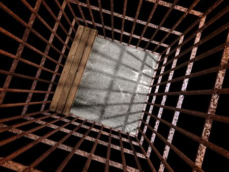 image 3d of rusty metal jail background Stock Photo - 3229128
