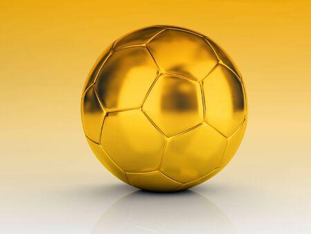 recreational pursuit: Fine image 3d of golden soccer ball