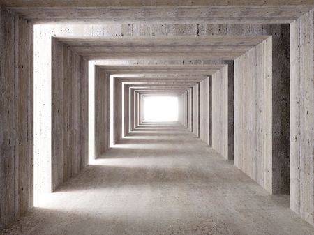 lateral: multa imagen 3D de hormig�n del t�nel y las luces laterales, resumen de antecedentes