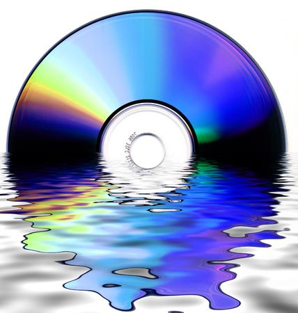 fine abstract image of cdrom photo