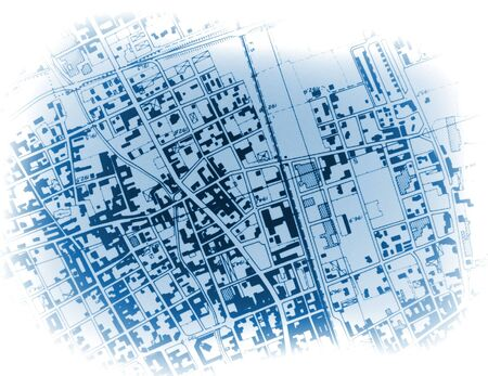 hir res image of town blue print photo