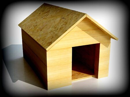 fine 3d image  generate of dog house shelter photo
