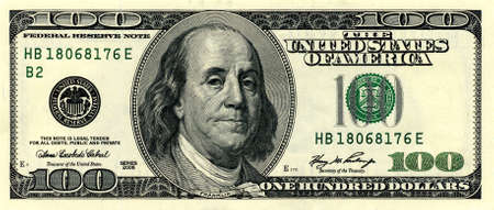 one hundred dollars: money close up, 100 american dollar Stock Photo