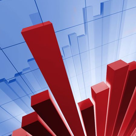 IMAGE 3D OF financial stat background photo