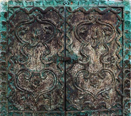fine detail of green ancient door Stock Photo - 3585407