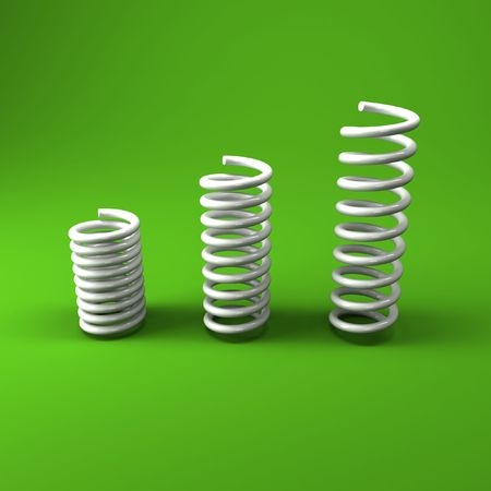image 3d of white metal spring background photo