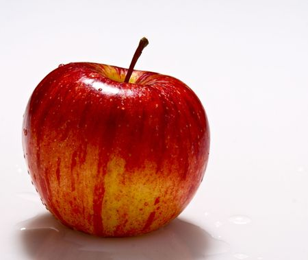 fine image of red apple on white background Stock Photo - 3636888