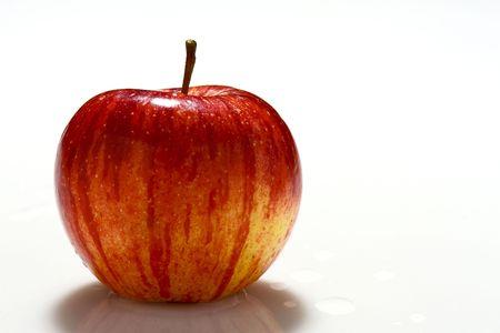 fruit background, red apple on white plane Stock Photo - 3636904