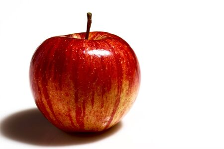 fine image of red apple on white background Stock Photo - 3636897