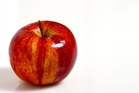 fine image of red apple on white plane Stock Photo - 3636910