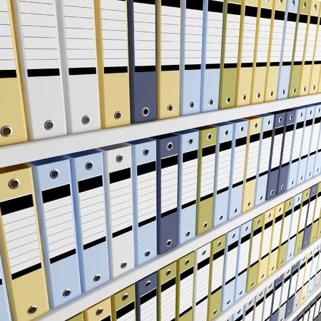 fine image 3d of archive folder background Stock Photo - 3653963