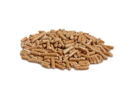 wood pellet:  image of alternative biological energy, wood pellet