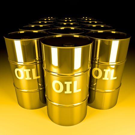 mooie 3D-beeld van goud vat olie