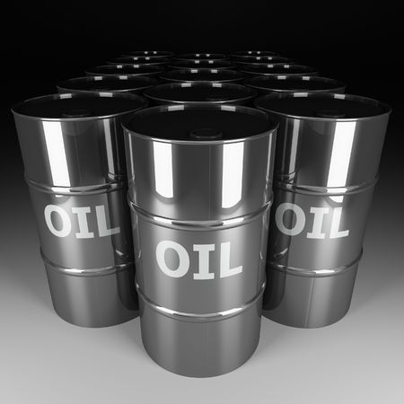 fine image 3d of chrome oil barrel Stock Photo - 3688395