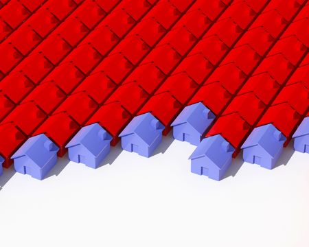 fine image 3d of different model house background Stock Photo - 3697244