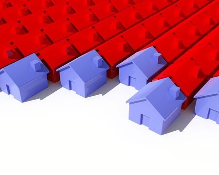 fine image 3d of model  house background Stock Photo - 3697243