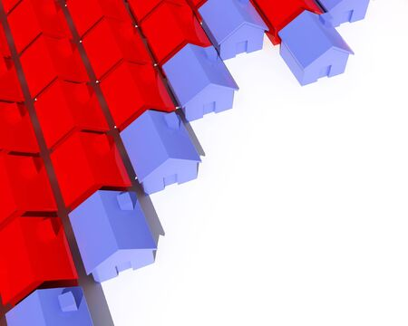 fine image 3d of house metaphor background Stock Photo - 3697242