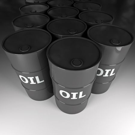 fine image 3d of oil barrel background photo