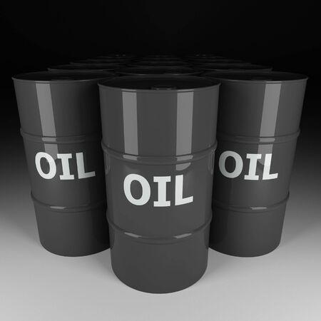 fine image 3d of dark oil tank photo