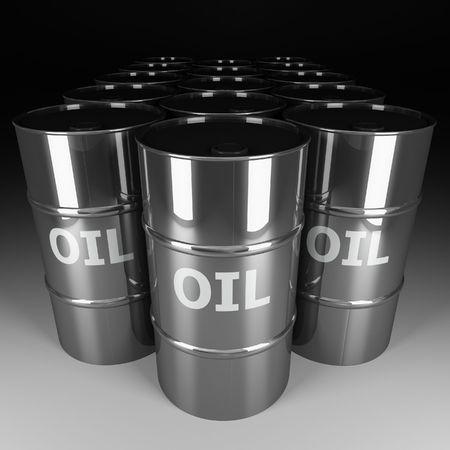 fine image 3d of chrome oil barrel Stock Photo - 3698170