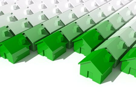fine image 3d of green metaphor house background Stock Photo - 3706825