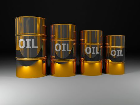 fine image 3d of golden oil tank background photo