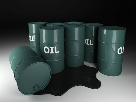 3d image of classic barrel oil background Stock Photo - 3713631