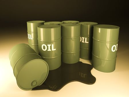 3d image of classic barrel oil background photo