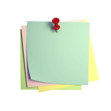 bulletinboard: fine image 3d of isolated postit on white background