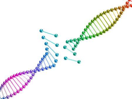 clonacion: multa imagen 3D de la ilustración de fondo de ADN roto