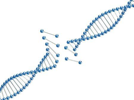 nucleic: fine image 3d of broken dna illustration background Stock Photo
