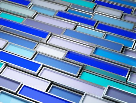 fine image 3d of chrome tank with blue paint background photo