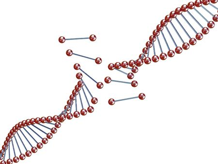 fine image 3d of broken dna background photo