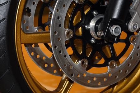 fine image close up of motorbike brake background Stock Photo - 3841816