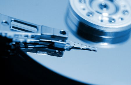 fine image of close up hard disk background photo