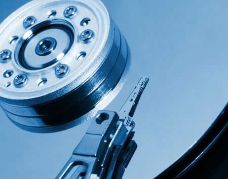 fine image of close up hard disk background photo