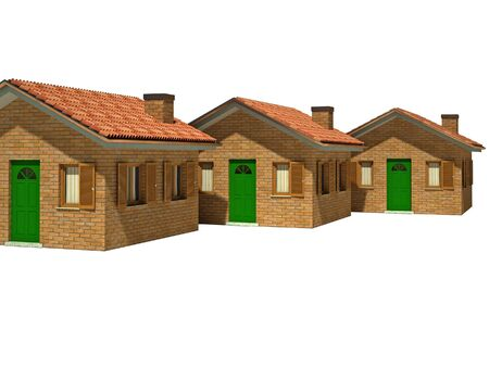 fine image 3d of isolated house on white background Stock Photo - 3864555