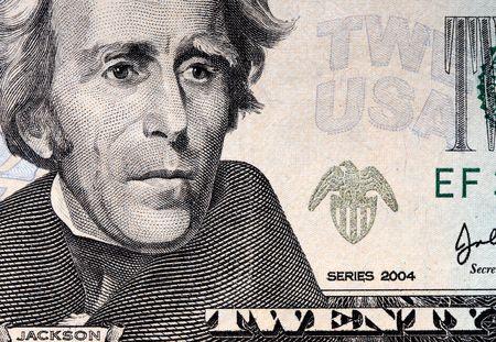 fine image closeup image of 20 usa dollar photo