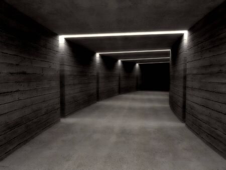 fine image 3d of concrete tunnel background Stock Photo - 3930309