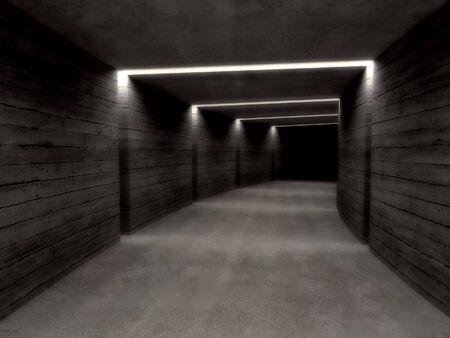 fine image 3d of concrete tunnel background Stock Photo - 3930309